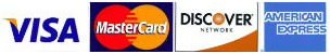 Accepting Visa, MasterCard, Discover, American Express, Cash and Check
